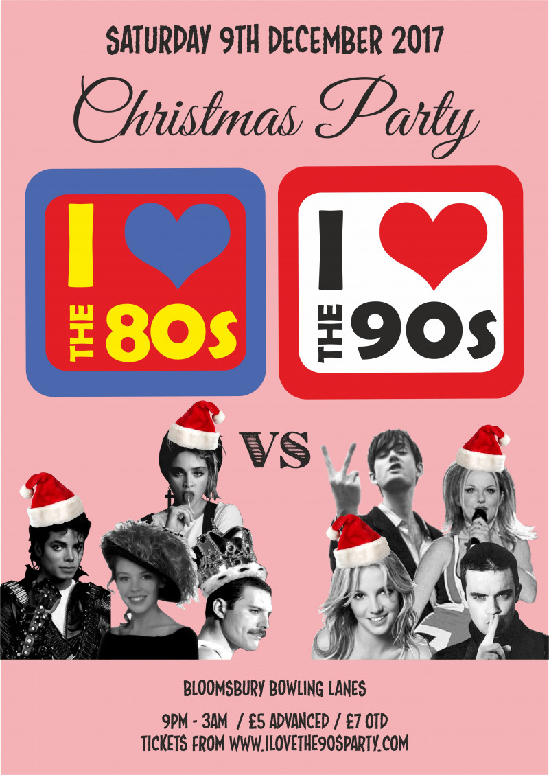 80s vs 90s Christmas Party
