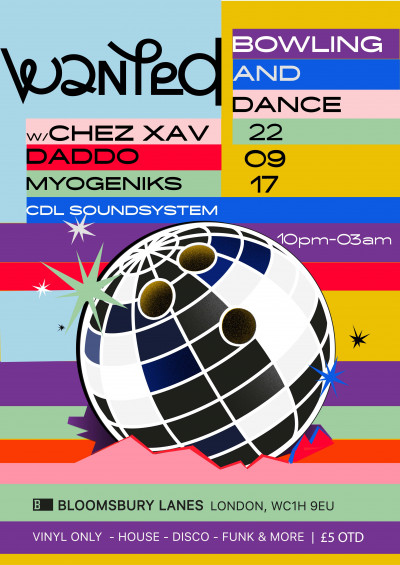 Wanted - Bowling and Dance Party